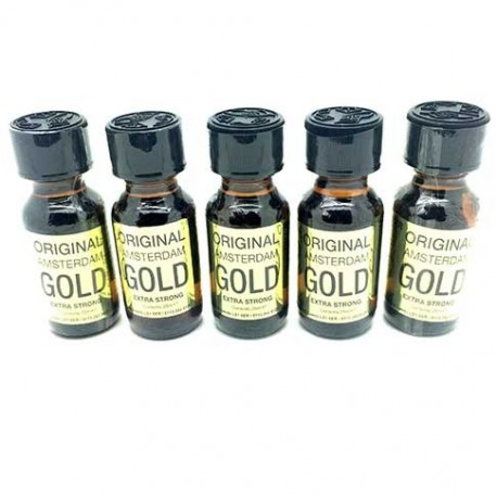 Original Amsterdam Gold Poppers x 5 - from UK Poppers online